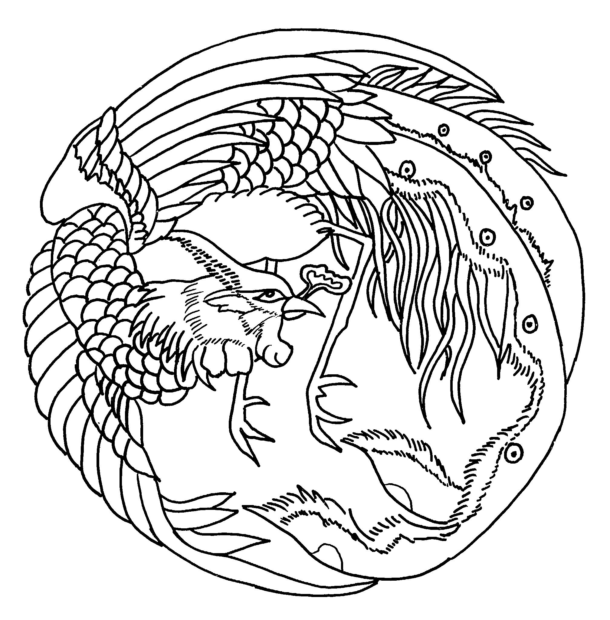 Coloring Pages Chinese Embroidery Chinaconnectu