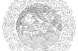 chinese-embroidery-bird-in-dragon-medallion