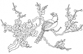 chinese-embroidery-bird-on-twig