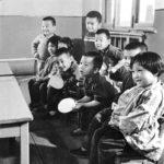 Children learning Table Tennis