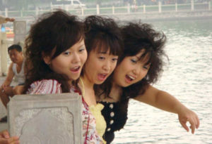 Girls at Hohai Lake